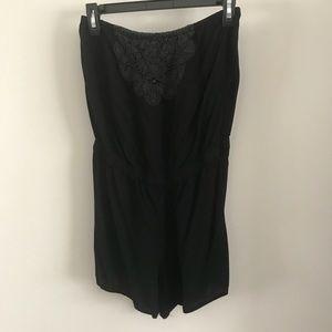 Pants - Black Sleeveless Romper